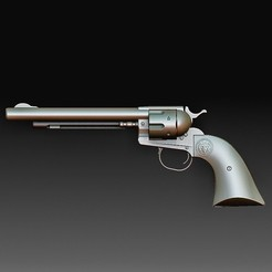 Colt PM HQ 2.jpg Download OBJ file Colt Peacemaker long • Model to 3D print, tex123