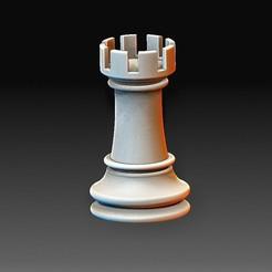 Rook.jpg Download OBJ file Chess figure • 3D printer object, tex123