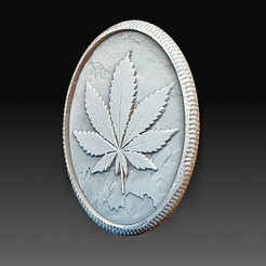 Download 3D model Marihuana leaf, tex123