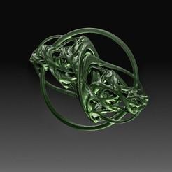 PM3D_Quattorus fractal.jpg Télécharger fichier OBJ Ornement fractal 4 • Plan pour imprimante 3D, tex123