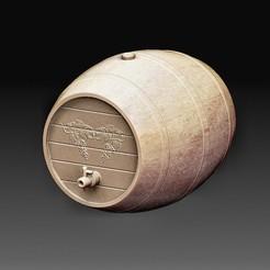Wine barrel.jpg Télécharger fichier OBJ Tonneau de vin • Modèle pour impression 3D, tex123