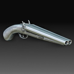 Download OBJ file Baby shotgun • 3D print template, tex123