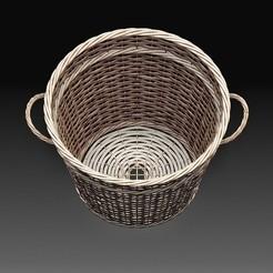 Basket 2.jpg Download OBJ file Basket • 3D printing model, tex123