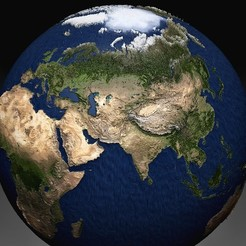 Earth HQ 12.jpg Télécharger fichier OBJ Terre • Modèle imprimable en 3D, tex123