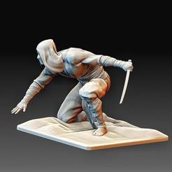 Ninja 3.jpg Download OBJ file Ninja statue • 3D print template, tex123