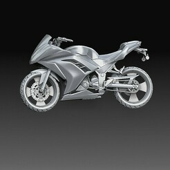 Motorcycle Yamaha.jpg Download OBJ file Motorcycle 2 • Object to 3D print, tex123