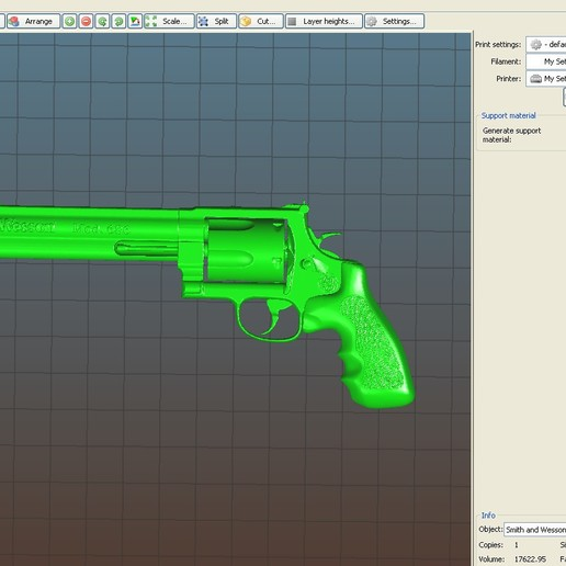 3D printable model.jpg Download OBJ file Smith & Wesson • 3D printable object, tex123