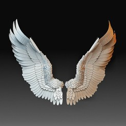 Wings 2.jpg Download OBJ file Angel wings • 3D printer template, tex123