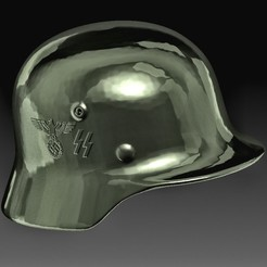 German helmet WW2 C.jpg Download OBJ file German helmet WW2 • Design to 3D print, tex123