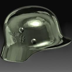 German helmet WW2 C.jpg Download OBJ file German helmet WW2 • Design to 3D print, tex123