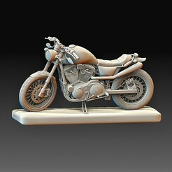 Motorcycle.jpg Download OBJ file Motorcycle • 3D printing object, tex123