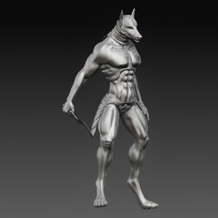 Anubis 5.jpg Download OBJ file Anubis • 3D print template, tex123