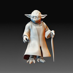 Yoda.jpg Download OBJ file Yoda Star Wars • Model to 3D print, tex123