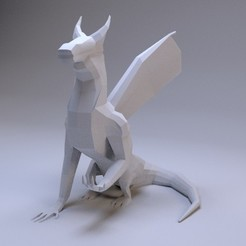 dragon.jpg Télécharger fichier STL Low Poly Dragon • Modèle pour imprimante 3D, AnthonyCo