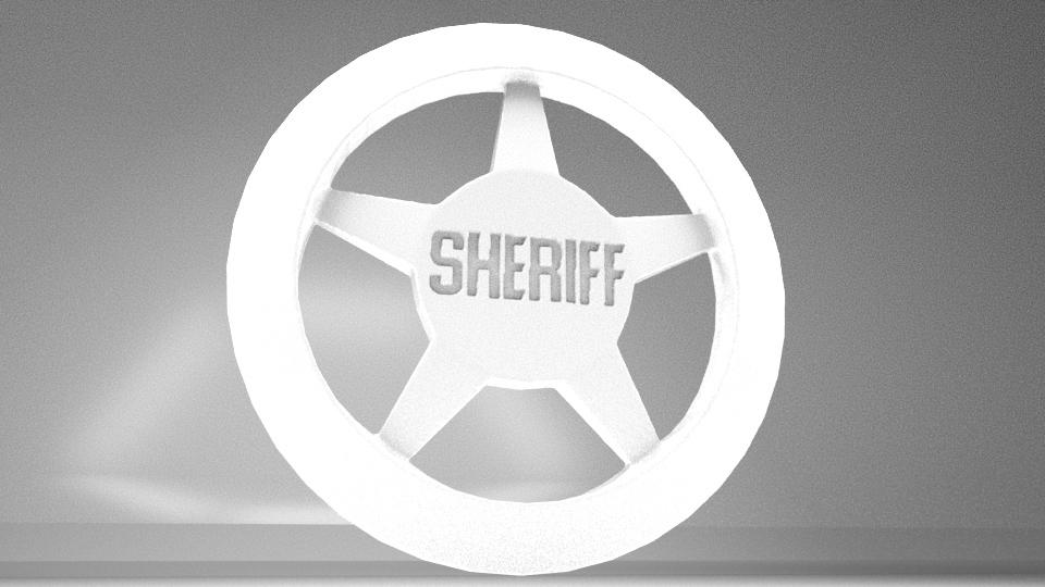 Sheriff1.jpg Télécharger fichier OBJ gratuit Insigne du shérif • Objet imprimable en 3D, AnthonyCo