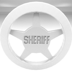 Download free 3D printing templates Sheriff's badge, AnthonyCo