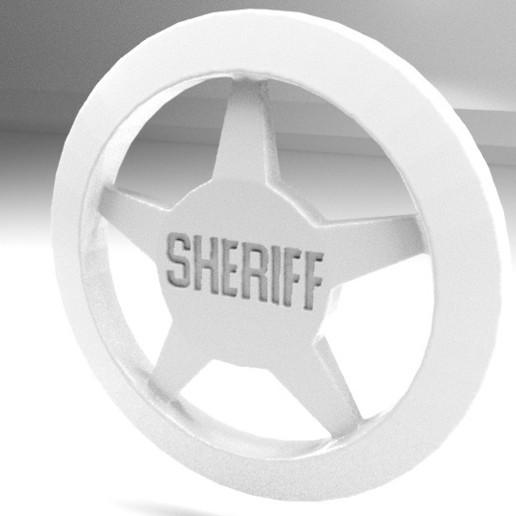Sheriff2.jpg Télécharger fichier OBJ gratuit Insigne du shérif • Objet imprimable en 3D, AnthonyCo