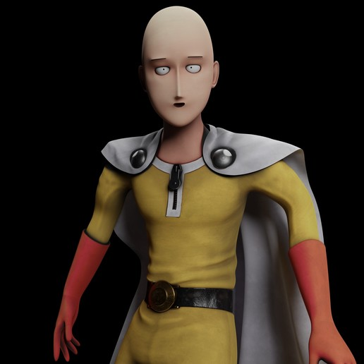 Download OBJ file One Punch Man Saitama • Model to 3D print, vancouverfx3d