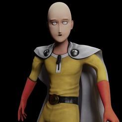 Preview1.jpg Download OBJ file One Punch Man Saitama • Model to 3D print, VancouverFX3D