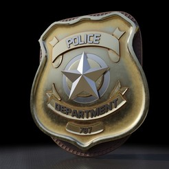Preview1.jpg Download OBJ file Police Badge 3D Print Model • 3D print model, vancouverfx3d