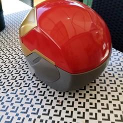 Download free STL file IRON MAN Mark 50 Infinity War helmet • Object to 3D print, jarvis-print3d