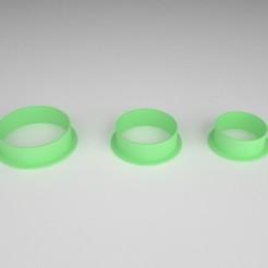 cookie cutter_circulos_x 3.jpg Download STL file Cookie Cutter - Cookie Cutter - Circles x 3 sizes • 3D printing model, PC_3D