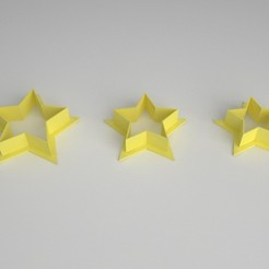 cookie cutter_estrella_x 3a.jpg Download STL file Cookie Cutter - Cookie Cutter - Star x 3 sizes • 3D printable model, PC_3D