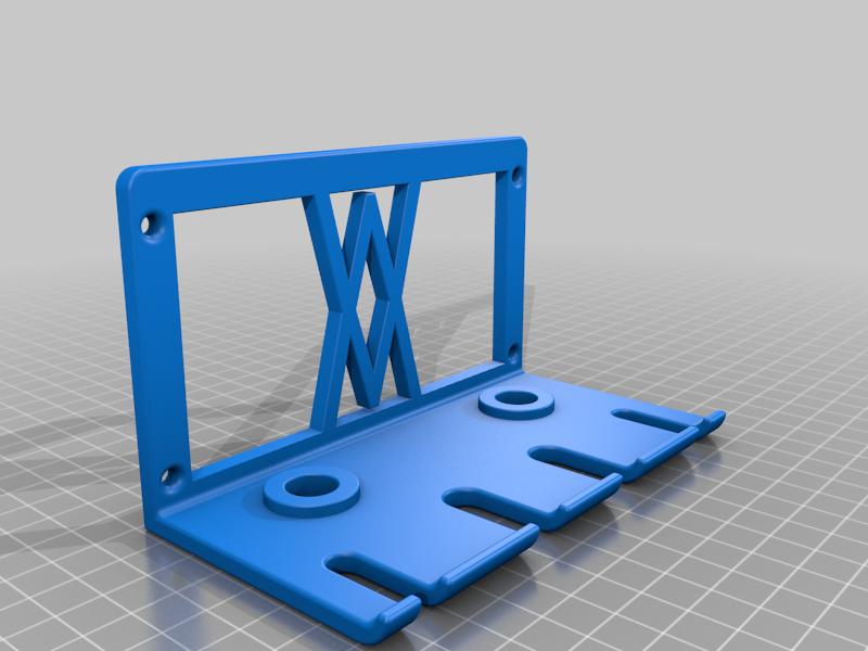 Screws.png Download free STL file Premium Screwdriver Set 6pcs Wall Mount 060 I for screws or peg board • 3D printing template, Wiesemann1893