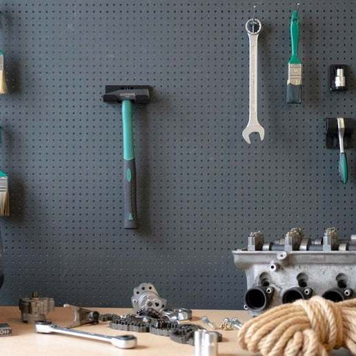 028_1.jpg Download free STL file Engineers Hammer Holder 300g 028 I for screws or peg board • Model to 3D print, Wiesemann1893