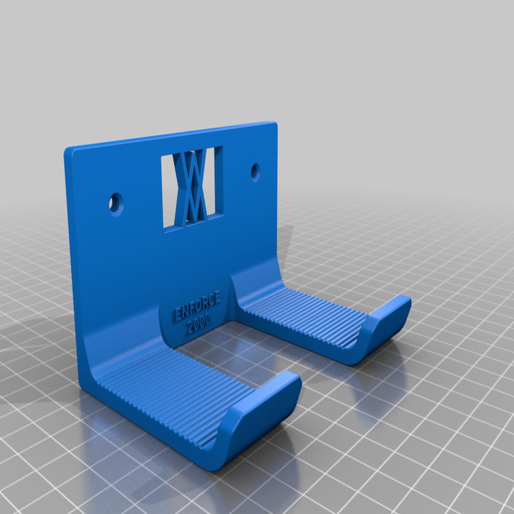 enforce_2000_screws.png Download free STL file XXL Club Hammer 2000 Grams holder 041 I ENFORCE I for screws or peg board • 3D print template, Wiesemann1893