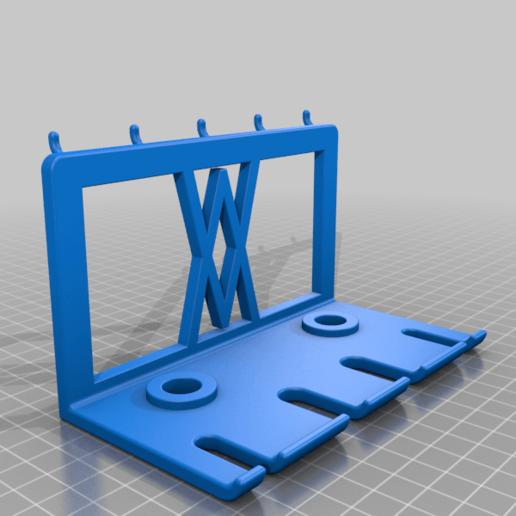 Pins.png Download free STL file Premium Screwdriver Set 6pcs Wall Mount 060 I for screws or peg board • 3D printing template, Wiesemann1893