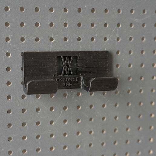 027_Foto_4.jpg Download free STL file Engineers Hammer Holder 100g 027 I for screws or peg board • 3D printer model, Wiesemann1893