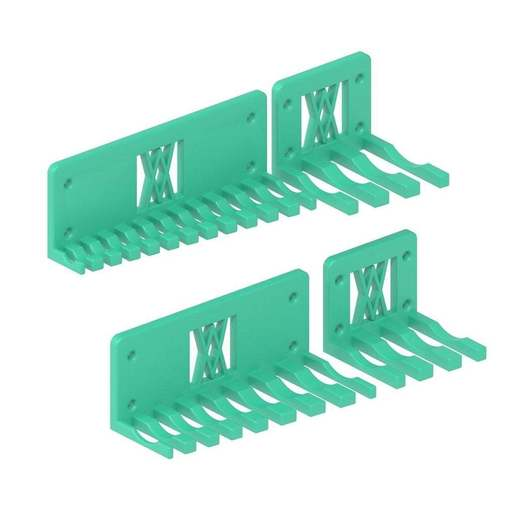 016_02.jpg Download free STL file XXL Combination Spanner Set 26pcs metric 6-32 mm Wall Holder 016 I for screws or peg board • 3D printable model, Wiesemann1893