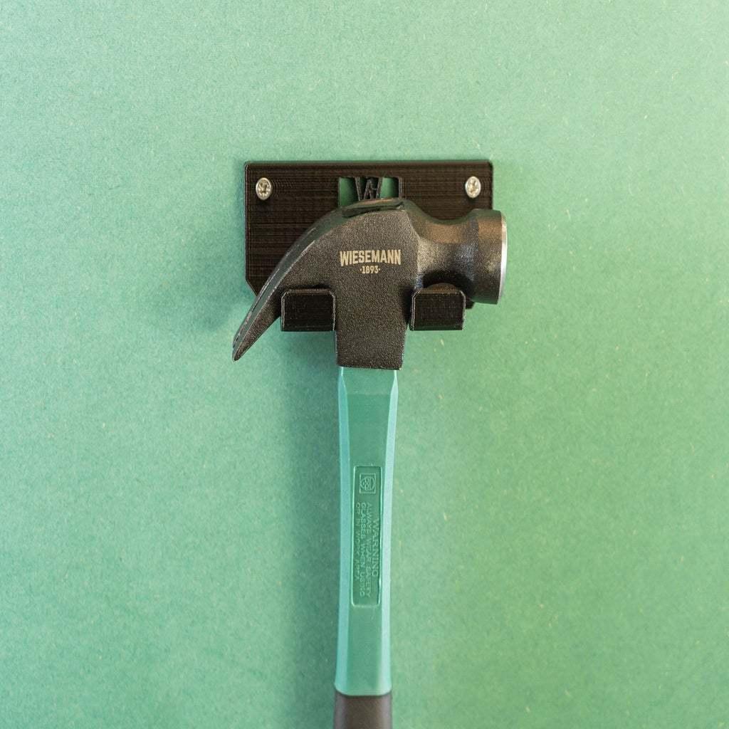 _DSC1588.jpg Download free STL file Tool Holder for Claw Hammer 16oz 034 I ENFORCE I for screws or peg board • 3D printer design, Wiesemann1893