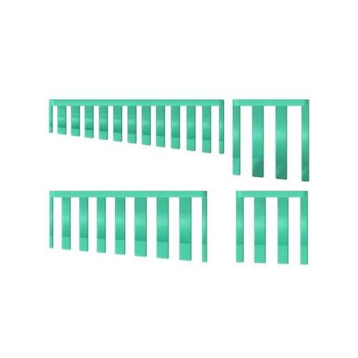 016_03.jpg Download free STL file XXL Combination Spanner Set 26pcs metric 6-32 mm Wall Holder 016 I for screws or peg board • 3D printable model, Wiesemann1893