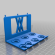 Pins.png Download free STL file Holder for Electrician Screwdriver Set 7pcs 012 I for screws or peg board • 3D print model, Wiesemann1893
