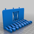 011_Pins.png Download free STL file Combination Spanner Set 8pcs metric 8-19mm Wall Holder 011 I for screws or peg board • 3D printer model, Wiesemann1893