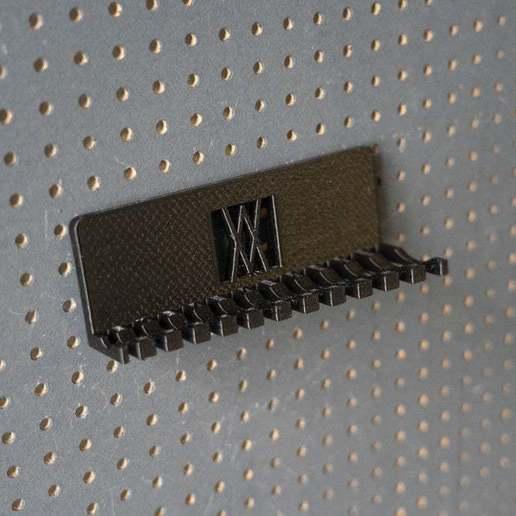 056_Foto_3.jpg Download free STL file Combination Spanner Set 12pcs metric 6-22mm Wall Holder 056 I for screws or peg board • 3D print design, Wiesemann1893