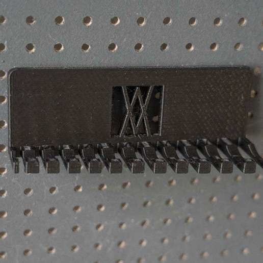 056_Foto_7.jpg Download free STL file Combination Spanner Set 12pcs metric 6-22mm Wall Holder 056 I for screws or peg board • 3D print design, Wiesemann1893