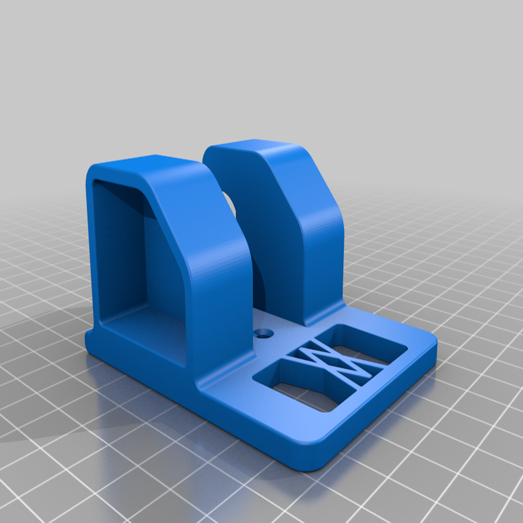 Ratsche_mid_01.png Download free STL file Ratchet (3/8 Inch) Wall Mount 047 I for screws or peg board • 3D printable object, Wiesemann1893