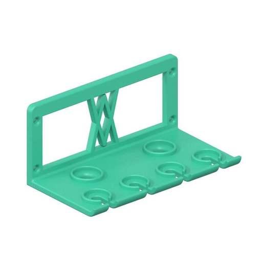 030_02.jpg Download free STL file TX Screwdriver Set 6pcs Holder for Wall 058 I for screws or peg board • 3D print template, Wiesemann1893