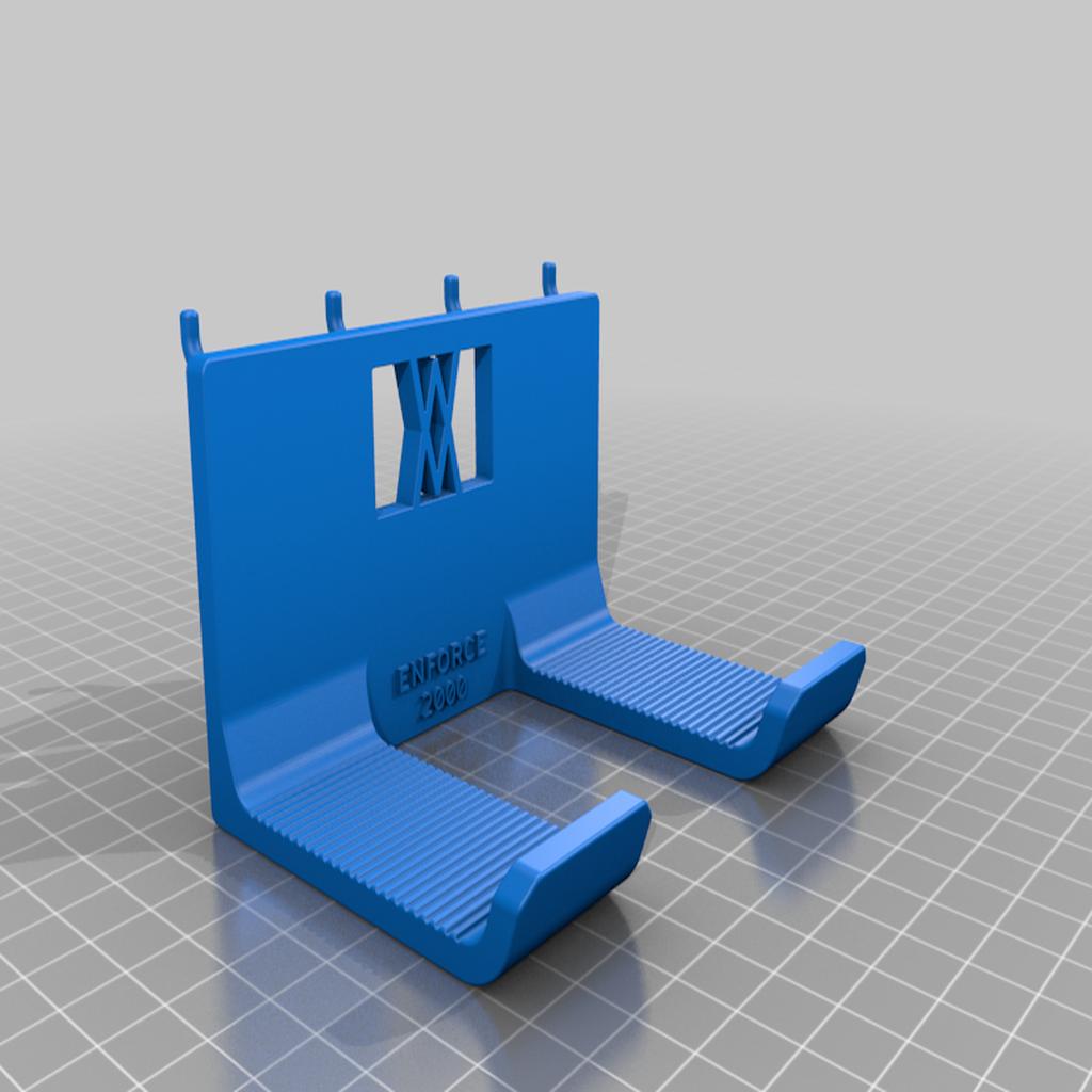 enforce_2000_pins.png Download free STL file XXL Club Hammer 2000 Grams holder 041 I ENFORCE I for screws or peg board • 3D print template, Wiesemann1893