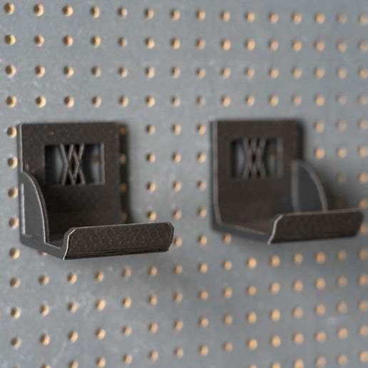 033_2.jpg Download free STL file XXL Sledgehammer Holder (4.5kg/10lb) 033 I ENFORCE I for screws or peg board • 3D print design, Wiesemann1893