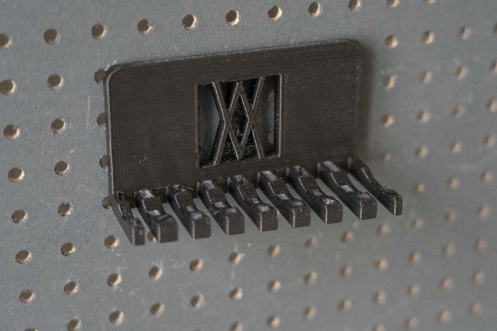 011_Foto_4.jpg Download free STL file Combination Spanner Set 8pcs metric 8-19mm Wall Holder 011 I for screws or peg board • 3D printer model, Wiesemann1893