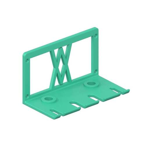 060_02.jpg Download free STL file Premium Screwdriver Set 6pcs Wall Mount 060 I for screws or peg board • 3D printing template, Wiesemann1893