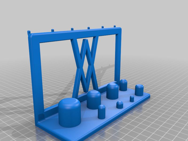 Pins.png Télécharger fichier STL gratuit Support mural pour adaptateur électrique 8pcs 002 I pour vis ou chevilles • Objet pour imprimante 3D, Wiesemann1893