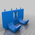 enforce_16_pins.png Download free STL file Tool Holder for Claw Hammer 16oz 034 I ENFORCE I for screws or peg board • 3D printer design, Wiesemann1893