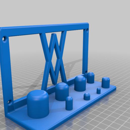 Screws.png Télécharger fichier STL gratuit Support mural pour adaptateur électrique 8pcs 002 I pour vis ou chevilles • Objet pour imprimante 3D, Wiesemann1893