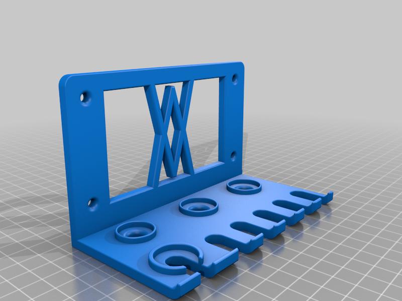 Left_Screws.png Download free STL file Tool Holder for 18pcs Screwdriver Set 059 I for screws or peg board • 3D printing template, Wiesemann1893