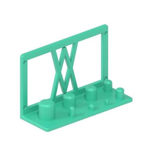 002_02.jpg Télécharger fichier STL gratuit Support mural pour adaptateur électrique 8pcs 002 I pour vis ou chevilles • Objet pour imprimante 3D, Wiesemann1893